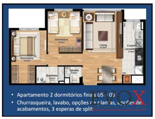 Soho Connect - Apto 2 Dorm, Camaquã, Porto Alegre (EV1082) - Foto 12
