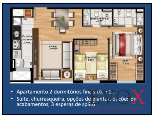 Soho Connect - Apto 2 Dorm, Camaquã, Porto Alegre (EV1082) - Foto 13