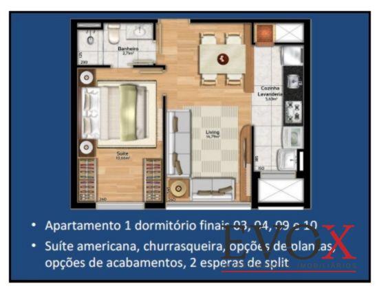 Soho Connect - Apto 2 Dorm, Camaquã, Porto Alegre (EV1082) - Foto 14