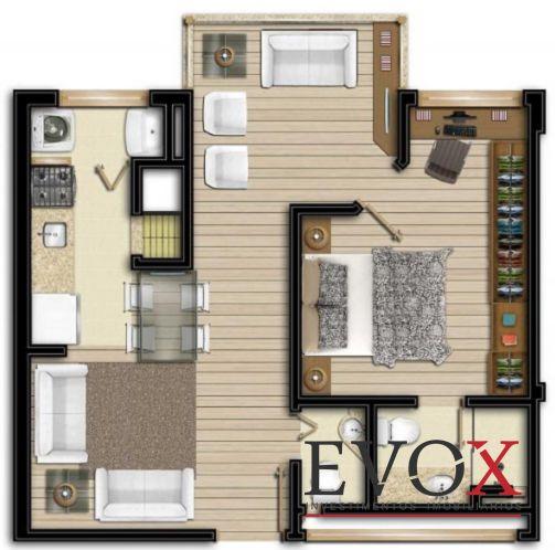 Evox Imóveis - Apto 1 Dorm, Boa Vista (EV1211) - Foto 4