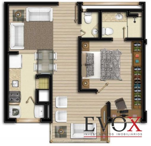 Evox Imóveis - Apto 2 Dorm, Boa Vista (EV1212) - Foto 2