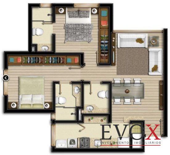 Evox Imóveis - Apto 2 Dorm, Boa Vista (EV1212)