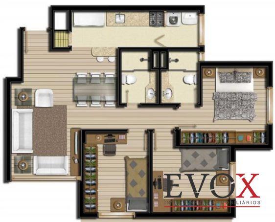 Evox Imóveis - Apto 2 Dorm, Boa Vista (EV1212) - Foto 6