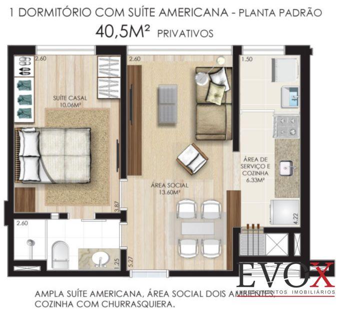 Castro Residence - Apto 2 Dorm, Independência, Porto Alegre (EV1218) - Foto 6