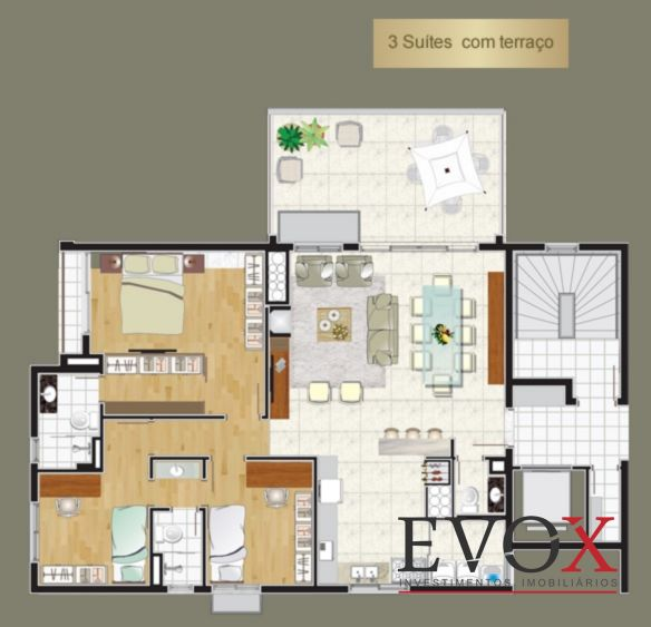 Luxor - Cobertura 3 Dorm, Tristeza, Porto Alegre (EV1233) - Foto 10