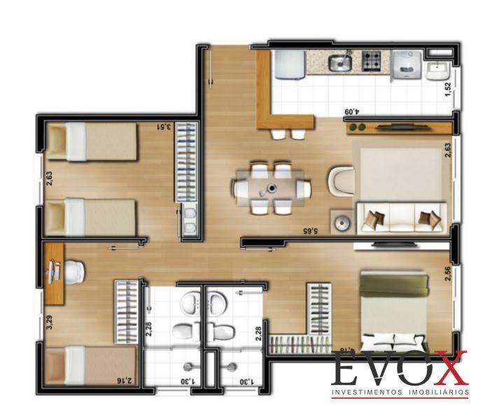 Evox Imóveis - Apto 2 Dorm, Santo Antonio (EV1309) - Foto 16
