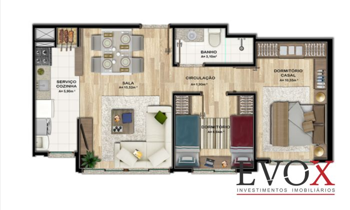 Residencial Sevilha - Apto 1 Dorm, Rubem Berta, Porto Alegre (EV1814) - Foto 12