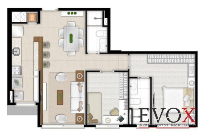 Hom Home Lindóia - 2 Dorm - 68m² - Apto 2 Dorm, Cristo Redentor - Foto 7