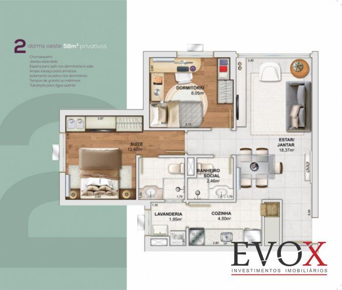 OXY Home Resort - Apto 2 Dorm, Camaquã, Porto Alegre (EV2305) - Foto 9
