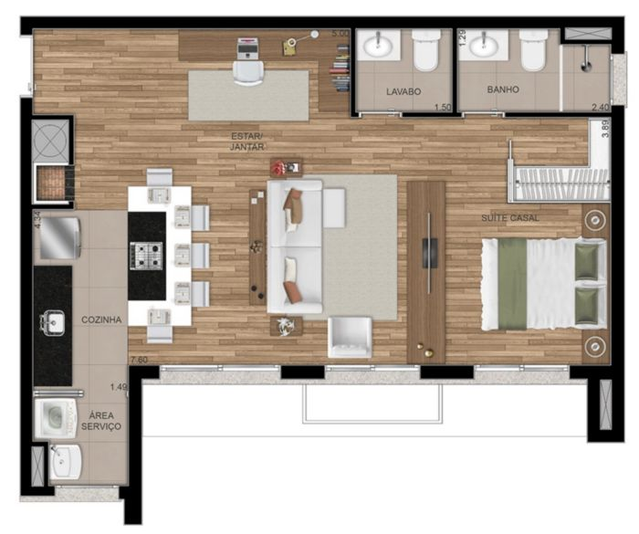 FWD Design Residence - Apto 2 Dorm, Jardim Botânico, Porto Alegre - Foto 32