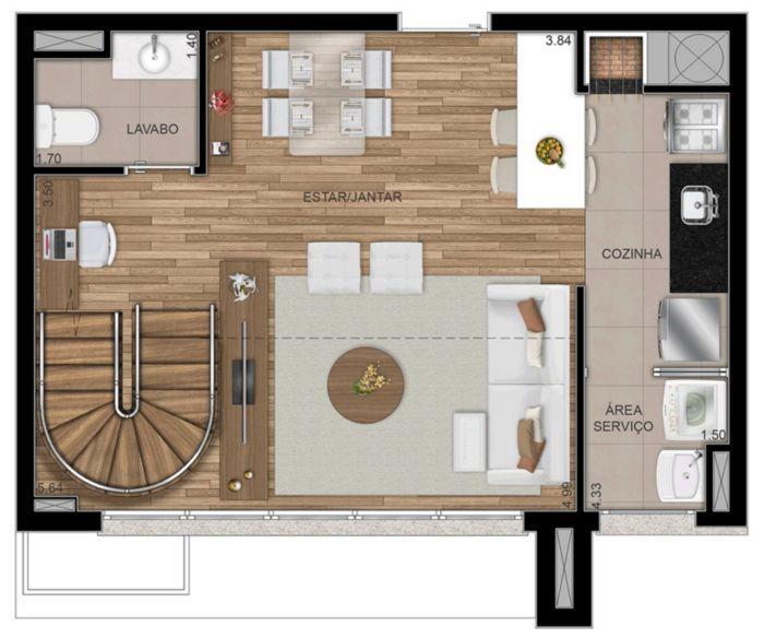FWD Design Residence - Apto 2 Dorm, Jardim Botânico, Porto Alegre - Foto 33