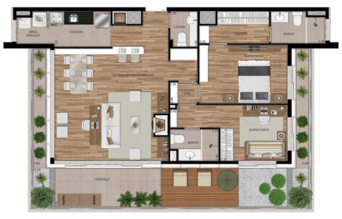 FWD Design Residence - Apto 2 Dorm, Jardim Botânico, Porto Alegre - Foto 48
