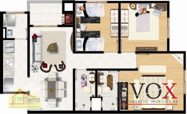 Residencial Villa Rosa - Apto 3 Dorm, Igara, Canoas (EV508) - Foto 6