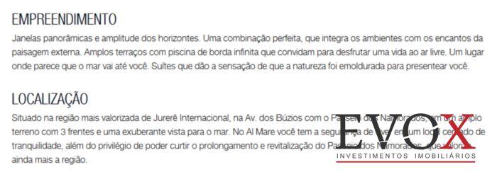 AL Mare - Apto 4 Dorm, Jurerê Internacional, Florianópolis (EV559) - Foto 5
