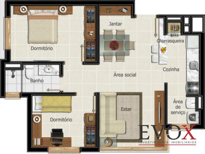 Vila Bergamo - Apto 2 Dorm, Santana, Porto Alegre (EV625) - Foto 13