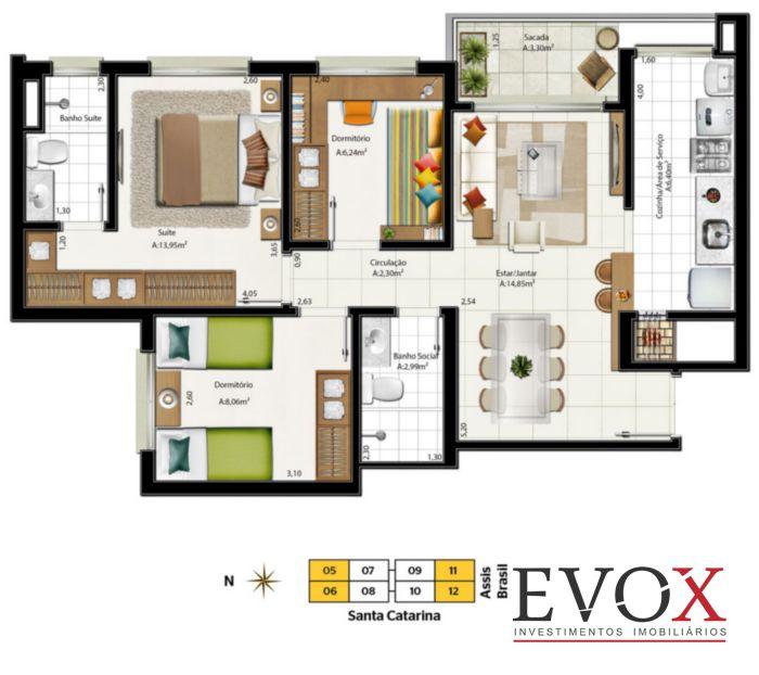Neo Super Quadra Living - Apto 2 Dorm, Santa Maria Goretti (EV749) - Foto 7