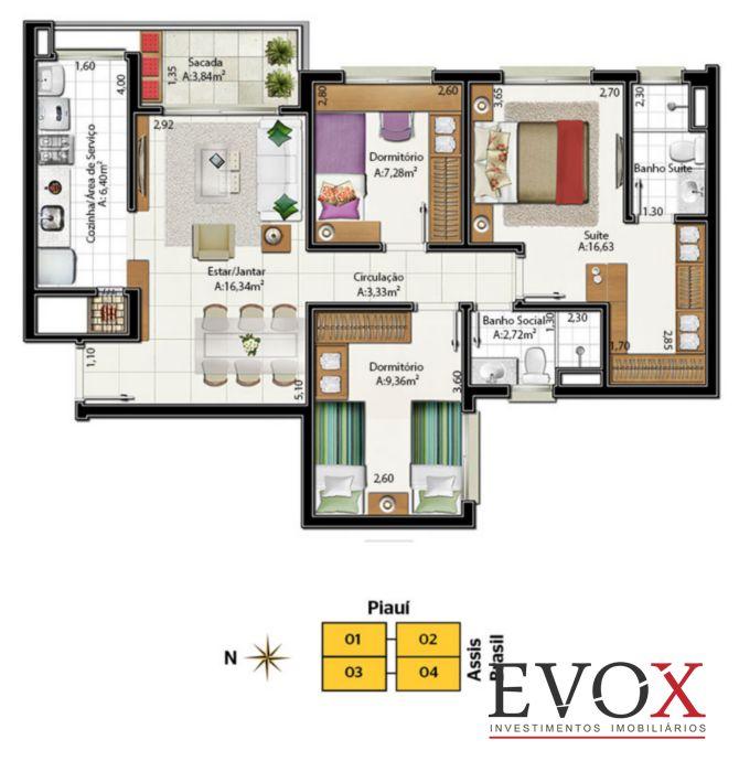 Neo Super Quadra Living - Apto 2 Dorm, Santa Maria Goretti (EV750) - Foto 6